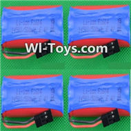 HBX Devastator Battery Parts-Official 6.4V 500MAH Battery(4pcs)-24971,HaiBoXing HBX 2098B Devastator 1/24th RC Car Parts
