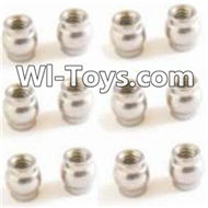 HBX Devastator Parts-Ball Head(12pcs)- 3.8x4mm-24961,HaiBoXing HBX 2098B Devastator 1/24th RC Car Parts