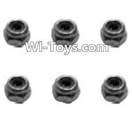 HBX 2098B Devastator Parts-Lock Nut-M2.5(6pcs) Parts-H017,HaiBoXing HBX 2098B Devastator 1/24th RC Car Parts
