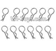 HBX Devastator Parts-Body Clip pin(12pcs) Parts -H021,HaiBoXing HBX 2098B Devastator 1/24th RC Car Parts