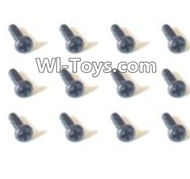 HBX Devastator Parts-Pan Head Self Tapping Screw(12PCS)-1.8x4.5mm-24751,HaiBoXing HBX 2098B Devastator 1/24th RC Car Parts
