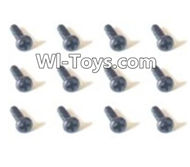 HBX Devastator Parts-Pan Head Self Tapping Screw(12PCS)-1.4x2.3mm-24752,HaiBoXing HBX 2098B Devastator 1/24th RC Car Parts