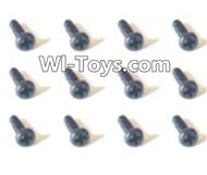 HBX Devastator Parts-Pan Head Screws(12PCS)-2x8mm-24755,HaiBoXing HBX 2098B Devastator 1/24th RC Car Parts