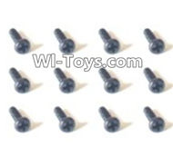 HBX Devastator Parts-Pan Head Screws(12PCS)-2x6mm-24756,HaiBoXing HBX 2098B Devastator 1/24th RC Car Parts
