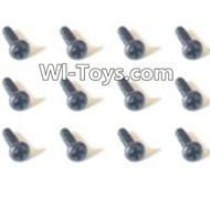 HBX Devastator Parts-Pan Head Screws(12PCS)-2x4mm-24757,HaiBoXing HBX 2098B Devastator 1/24th RC Car Parts