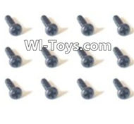 HBX Devastator Parts-Pan Head Screws(12PCS)-1.5x6mm-24758,HaiBoXing HBX 2098B Devastator 1/24th RC Car Parts