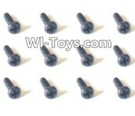 HBX Devastator Parts-Countersunk head Self Tapping Screws(12PCS)-2x6mm-24760,HaiBoXing HBX 2098B Devastator 1/24th RC Car Parts