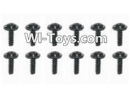 HBX Devastator Parts-Flange Head Self Tapping Screw(12PCS)-2x8mm-24770,HaiBoXing HBX 2098B Devastator 1/24th RC Car Parts