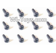 HBX Devastator Parts-Pan Head Self Tapping Screw(12PCS)-2.3x6mm-24772,HaiBoXing HBX 2098B Devastator 1/24th RC Car Parts