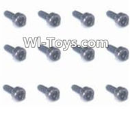 HBX Devastator Parts-Round Head Hex. Screw(12pcs) -2x6mm-24773,HaiBoXing HBX 2098B Devastator 1/24th RC Car Parts