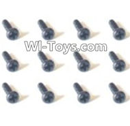 HBX Devastator Parts-Countersunk head Screws(12PCS)-2x6mm-24774,HaiBoXing HBX 2098B Devastator 1/24th RC Car Parts