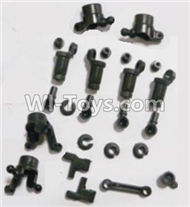 HBX 2128 Wildrider Parts-anti-Shocks Assembly & Steering Cups & Rear Shaft sleeve Parts-25002R,HaiBoXing HBX 2128 RC Car Parts 1/24