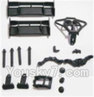 HBX 2128 Wildrider Parts-Tail Wings & Bumpers & Car Body Support column Parts-25003,HaiBoXing HBX 2128 RC Car Parts 1/24