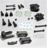 HBX 2128 Wildrider Parts-Motor Seat & Battery Cover & Dogbones & Diff. Small Bevel Gears & Wheel Shafts & Outdrive Cups Parts-25004R,HaiBoXing HBX 2128 RC Car Parts 1/24