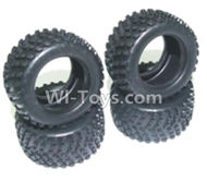 HBX 2128 Wildrider Parts-Tire lether(4pcs)-Not include the Wheel hub Parts-24027R,HaiBoXing HBX 2128 RC Car Parts 1/24