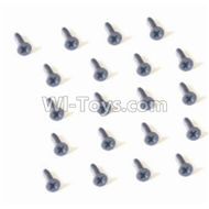 HBX 2128 Wildrider Screw Parts-Countersunk Head Self Tapping Screw-1.5X5mm(20PCS) Parts-25053,HaiBoXing HBX 2128 RC Car Parts 1/24
