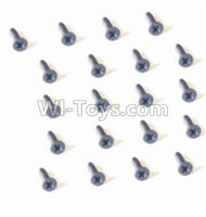 HBX 2128 Wildrider Screw Parts-Countersunk Head Self Tapping Screw-2X6mm(20PCS) Parts-25056,HaiBoXing HBX 2128 RC Car Parts 1/24