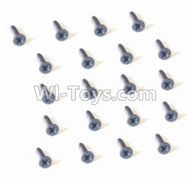 HBX 2128 Wildrider Screw Parts-Countersunk Head Self Tapping Screw-2X9mm(20PCS) Parts-25057,HaiBoXing HBX 2128 RC Car Parts 1/24