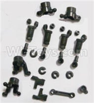 HBX 2138 Fire Runner Parts-anti-Shocks Assembly & Steering Cups & Rear Shaft sleeve Parts-25002R,HaiBoXing HBX 2138 RC Car Parts 1/24