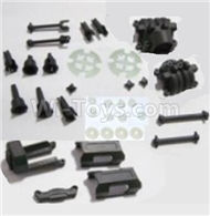 HBX 2138 Fire Runner Parts-Motor Seat & Battery Cover & Dogbones & Diff. Small Bevel Gears & Wheel Shafts & Outdrive Cups Parts-25004R,HaiBoXing HBX 2138 RC Car Parts 1/24