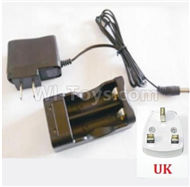 HBX 2138 Fire Runner Parts-Charger Parts-Charge Box and Charger(United Kingdom Standard Socket) Parts-25029,HaiBoXing HBX 2138 RC Car Parts 1/24