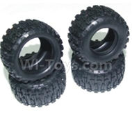 HBX 2138 Fire Runner Parts-Tire lether Parts-Tire lether(4pcs)-Not include the Wheel hub Parts-24030R,HaiBoXing HBX 2138 RC Car Parts 1/24
