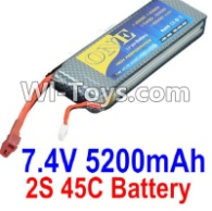 HBX T6 Battery Parts-ONE 2s 7.4V 45C 5200MAH Battery Parts TS008,HaiBoXing HBX T6 1/6 RC Desert Buggy Parts,hbx T6 Hammerhead Parts