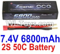 HBX T6 Battery Parts-GENS ACE 2S 7.4V 6800mAh 50C Battery Parts TS008,HaiBoXing HBX T6 1/6 RC Desert Buggy Parts,hbx T6 Hammerhead Parts