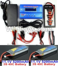HBX T6 Battery Charger Parts-2pcs 7.4V 5200 mah battery & Upgrade Charger unit Parts TS008,HaiBoXing HBX T6 1/6 RC Desert Buggy Parts,hbx T6 Hammerhead Parts