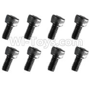 HuanQi 727 Parts-89-19 F5219 Inner-Hexagon Cup head screws(8pcs)-M3X14mm,HuanQi 727 Rc Car Spare Parts Replacement Accessories,HQ727 HQ 727 1:10 Scale BRUSHED RC Racing Truck Parts rc off-road car Parts,Truck Car Parts