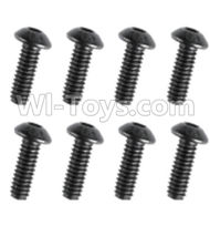 HuanQi 727 Parts-90-07 F5231 Inner-Hexagon round head screws(8pcs)-M3X18mm,HuanQi 727 Rc Car Spare Parts Replacement Accessories,HQ727 HQ 727 1:10 Scale BRUSHED RC Racing Truck Parts rc off-road car Parts,Truck Car Parts