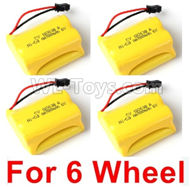 JJRC Q60 Battery-6V 700mah Battery(4pcs)-Can only be used for 6 Wheel car,JJRC Q60 Parts,JJRC Q60 Upgrade parts