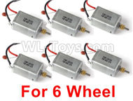 JJRC Q60 6 Wheel Drive Motor Parts(6pcs)-Can only be used For 6 Wheel car,JJRC Q60 Parts,JJRC Q60 Upgrade parts