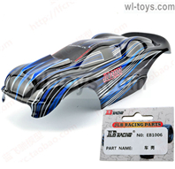JLB Cheetah Body Car canopy,Car Shell cover for 21101-Blue Parts-EB1006,JLB Cheetah Parts,JLB cheetah 1/10 21101 RC Car Parts,JLB Racing Cheetah parts,JLB Racing 21101 parts