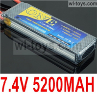 JLB Racing J3 Speed Parts-7.4V 5200MAH Battery(1pcs)-2S Battery,JLB J3 Speed Parts