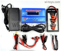 JLB Racing J3 Speed Parts-Upgrade Charger unit,Can charger 2s or 3s 6x battery at the same time(Power & B6 Charger & 1-To-6 Parallel charging Board),JLB J3 Speed Parts