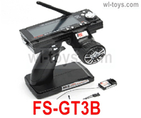 JLB Racing J3 Speed Parts-FS-GT3B Transmitter with Receiver board(2.4G control,LCD Screen,With loss-control protection),JLB J3 Speed Parts