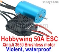 JLB Racing J3 Speed Parts-Hobbywing 50A ESC and XinjI 3650 Brushless motor(Violent, waterproof),JLB J3 Speed Parts