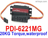 JLB Racing J3 Speed Parts-JX Servo PDI-6221MG,20KG Torque Servo)-waterproof,JLB J3 Speed Parts