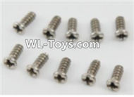 PXtoys 9302 Spare parts P88003 Round Head screws(10pcs)-2.3x6mm,PXtoys 9302 RC Car Parts,PXtoys 9302 RC Truck Spare parts Accessories,1:18 4WD High Speed Buggy Parts