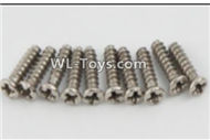 PXtoys 9302 Spare parts P88004 Round Head screws(10pcs)-2.3x8mm,PXtoys 9302 RC Car Parts,PXtoys 9302 RC Truck Spare parts Accessories,1:18 4WD High Speed Buggy Parts