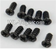PXtoys 9302 Spare parts P88005 Flat head screws(10pcs)-2.3x8mm,PXtoys 9302 RC Car Parts,PXtoys 9302 RC Truck Spare parts Accessories,1:18 4WD High Speed Buggy Parts