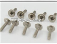 PXtoys 9302 Spare parts P88008 Cup head screws(10pcs)-2.3x10mm,PXtoys 9302 RC Car Parts,PXtoys 9302 RC Truck Spare parts Accessories,1:18 4WD High Speed Buggy Parts
