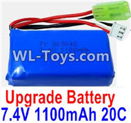 PXtoys 9302 Spare parts-32-01 Upgrade 7.4V 1100mah 20C Battery(1pcs),PXtoys 9302 RC Car Parts,PXtoys 9302 RC Truck Spare parts Accessories,1:18 4WD High Speed Buggy Parts