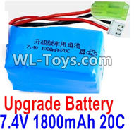 PXtoys 9302 Spare parts-32-02 Upgrade 7.4V 1800MAH Battery(1pcs)-Szie-57X30X30mm,Weight-97g,PXtoys 9302 RC Car Parts,PXtoys 9302 RC Truck Spare parts Accessories,1:18 4WD High Speed Buggy Parts