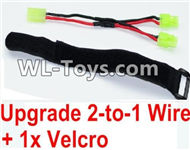 PXtoys 9302 Spare parts-32-04 Upgrade 2-to-1 wire and Velcro-Two battery can use together,Run 2x Time than usual,PXtoys 9302 RC Car Parts,PXtoys 9302 RC Truck Spare parts Accessories,1:18 4WD High Speed Buggy Parts
