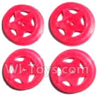 Subotech BG1503 Parts-Front and Rear Wheel Hub(4pcs)-Red-(Not include the Trie Lether),Subotech BG1503 RC Car Spare parts Accessories,1:16 2WD BG1503 RC Racing Car parts,High Speed Drifting Buggy Parts
