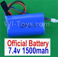 SuBotech BG1507 Car Parts-DZDC01 7.4V 1500MAH Battery(1pcs),Subotech BG1507 RC Car Spare parts Accessories,1:12 4WD BG1507 RC Racing Car parts,High Speed Drifting Buggy Parts