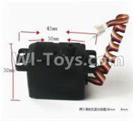 SuBotech BG1507 Car Parts-DZDJ02 Servo,Subotech BG1507 RC Car Spare parts Accessories,1:12 4WD BG1507 RC Racing Car parts,High Speed Drifting Buggy Parts