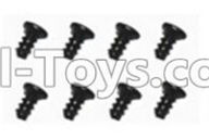 SuBotech BG1507 Car Parts-WLS001 Flat head screws(8pcs)-M2.0X4,Subotech BG1507 RC Car Spare parts Accessories,1:12 4WD BG1507 RC Racing Car parts,High Speed Drifting Buggy Parts
